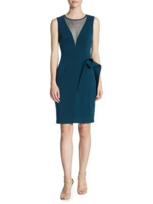 NERO BY JATIN VARMA Sleeveless Sheath Dress in Teal