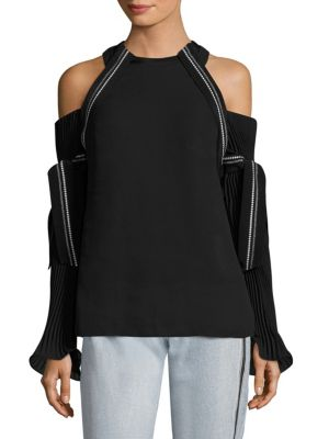 Cold Shoulder Bell Sleeves Top by 3.1 Phillip Lim