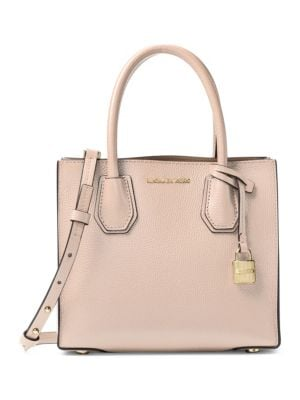 Mercer Medium Double-Sided Leather Tote Bag, Soft Pink