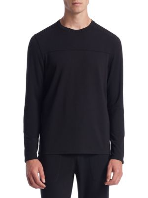 Saks Fifth Avenue  COLLECTION Mixed Media Crewneck Sweater