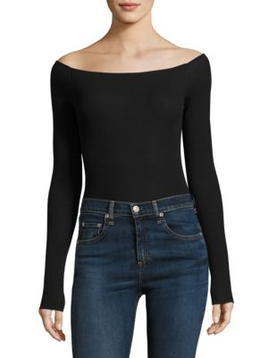 Off-the-Shoulder Nutmeg Bodysuit by ATM Anthony Thomas Melillo