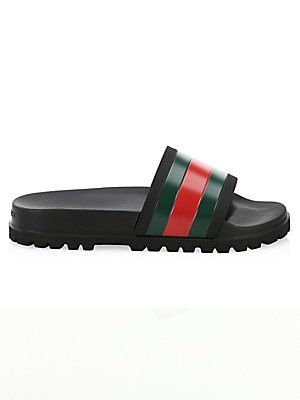 1f18712a5 Gucci - Web Slide Sandals - saks.com