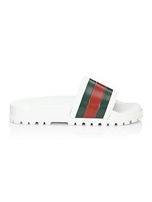 fdfd9f66b Gucci - Web Slide Sandals - saks.com