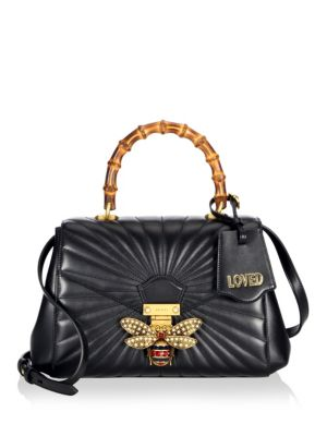 ad3886ea3489 Shoptagr | Queen Margaret Quilted Leather Top Handle Bag by Gucci