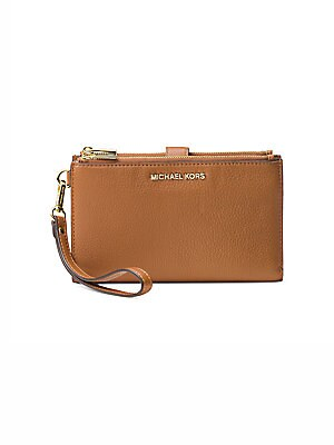 8a434378fac086 MICHAEL Michael Kors - Double Zip Leather Wristlet - saks.com