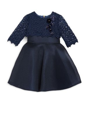 Toddlers  Little Girls Lace Popover Dress