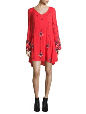 Buy Free People Oxford Embroidered Mini Dress online with Australia wide shipping
