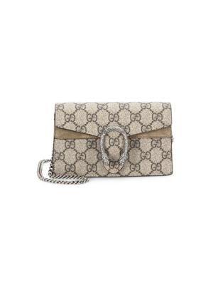 dc215a5cd Gucci - Dionysus GG Supreme Mini Chain Shoulder Bag - saks.com