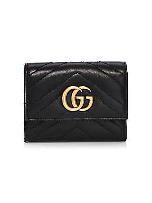 Gucci - GG Marmont Matelassé Leather Wallet - saks.com d55be9f959676