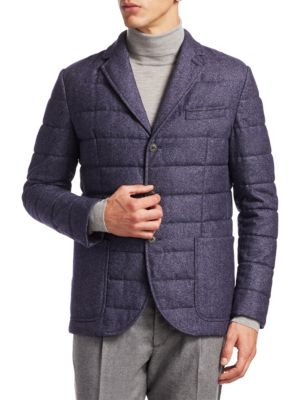 Saks Fifth Avenue  COLLECTION Quilted Wool Blazer