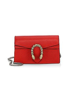 fe1f661c3 Gucci - Dionysus Leather Mini Chain Shoulder Bag - saks.com