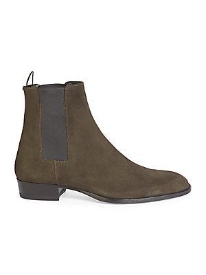 71d5c339a33 Saint Laurent - Wyatt Suede Chelsea Ankle Boots