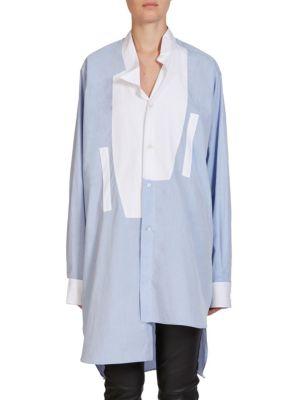 Asymmetric Button Front Shirt by LOEWE
