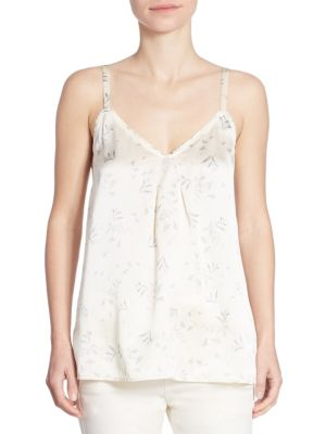 Floral-Print Silk Camisole by Vince