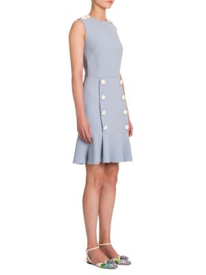 Buy Dolce & Gabbana Cady Button-Front Flounce Dress online with Australia wide shipping