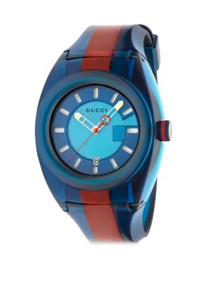 Watch Sync Watch Web Case In Transparent Pvc, Blue