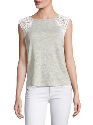 Marnie Lace Shoulder Top by Generation Love