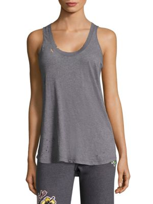 Distressed Narrow Tank by MONROW