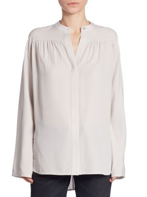Shirred Silk Blouse by Vince
