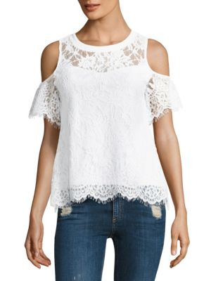 Libby Lace Cold-Shoulder Top by Generation Love