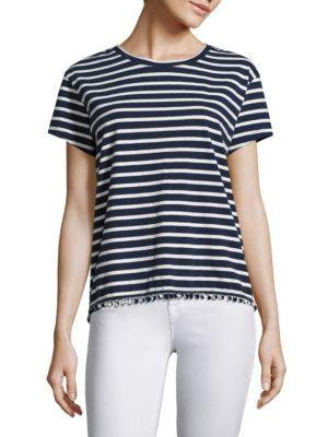 Maritime Stripe Cotton Tee by SUNDRY
