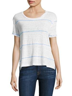 Striped Linen T-Shirt by SUNDRY