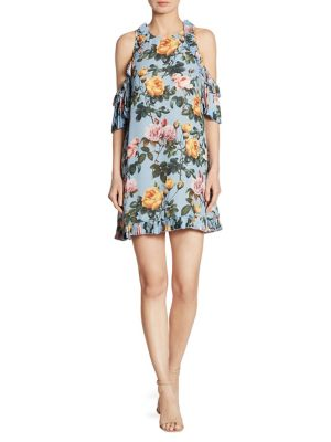 Buy Delfi Collective Minnie Cold-Shoulder Floral-Print Dress online with Australia wide shipping