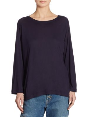 Raglan Long Sleeve Tee by Vince