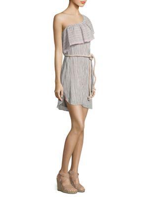 Ruffle One-Shoulder Stripe Dress by Bailey 44