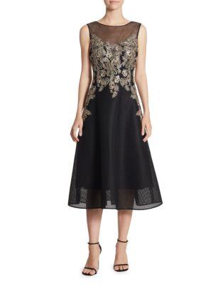 Neoprene Applique Dress