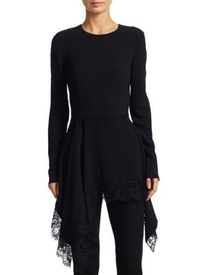 Draped Lace Top by Givenchy