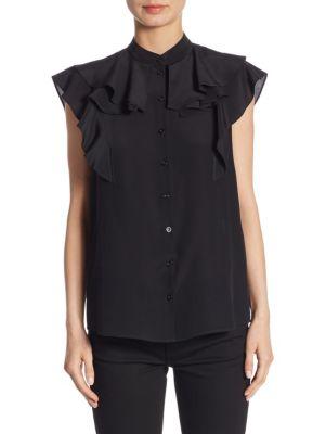 Sleeveless Ruffled Blouse by Givenchy