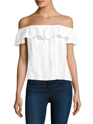 Off-The-Shoulder Ruffled Top by Bella Dahl