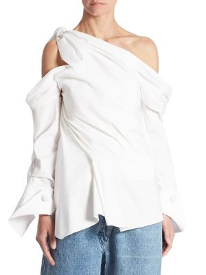 Asymmetric One Shoulder Shirt by Monse