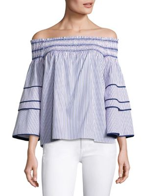 Striped Off-the-Shoulder Blouse by Parker