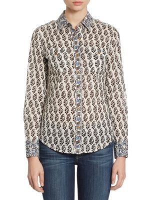 Brigitte Cotton Blouse by Tory Burch