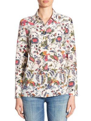Erica Silk Shirt by Tory Burch