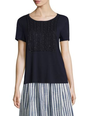 Teti Beaded Jersey Tee by Weekend Max Mara