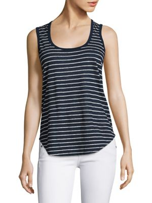 Striped Linen Jersey Tank Top by ATM Anthony Thomas Melillo