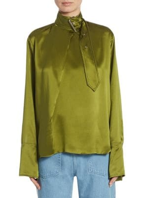 Silk Buckle Blouse by Marques'Almeida