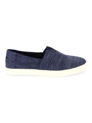 Toms Men'S Avalon Linen Slip On Sneakers, Navy