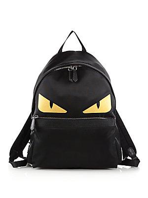 89d1ab07b0b3 Fendi - Nylon Monster Backpack - saks.com