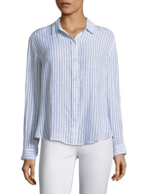 Striped Button-Down Shirt by Rails