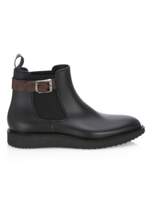 Saks Fifth Avenue  COLLECTION Buckle Rubber Chelsea Boots