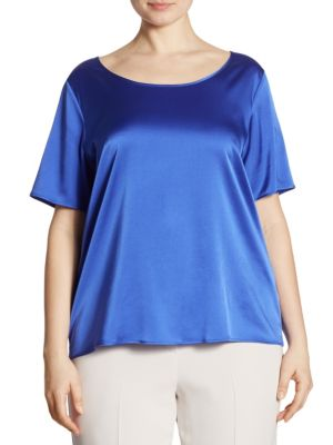 Elegante Baltico Silk Stretch Top by Marina Rinaldi, Plus Size