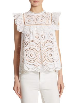 Meriddian Embroidered Top by Zimmermann