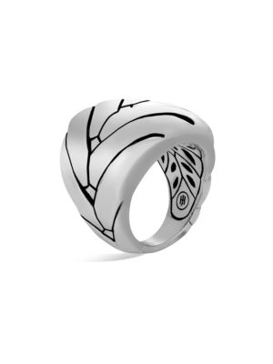 Modern Chain Sterling Silver Large Ring