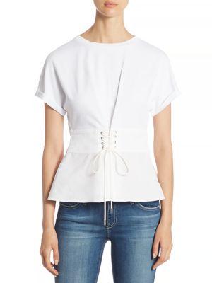 Corset Cotton Jersey Top by 3.1 Phillip Lim