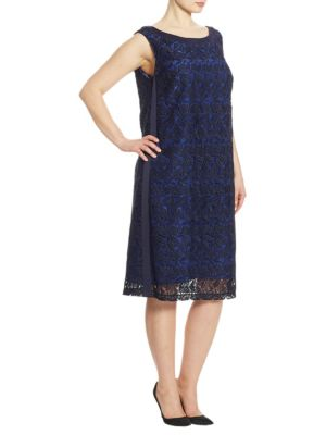 Elegante Desideri Macrame Sheath Dress