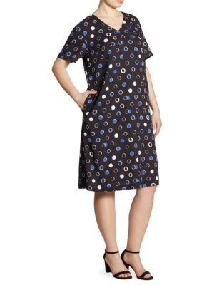 Voyage Circle-Print A-Line Dress